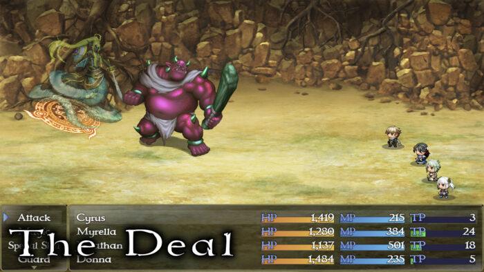 The Deal RPG battle