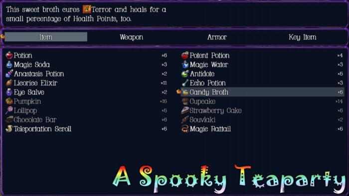 A Spooky Teaparty Menu