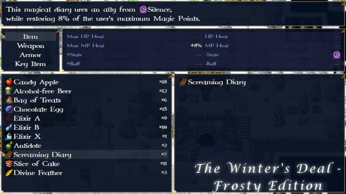 The Winter's Deal - Frosty Edition Menu