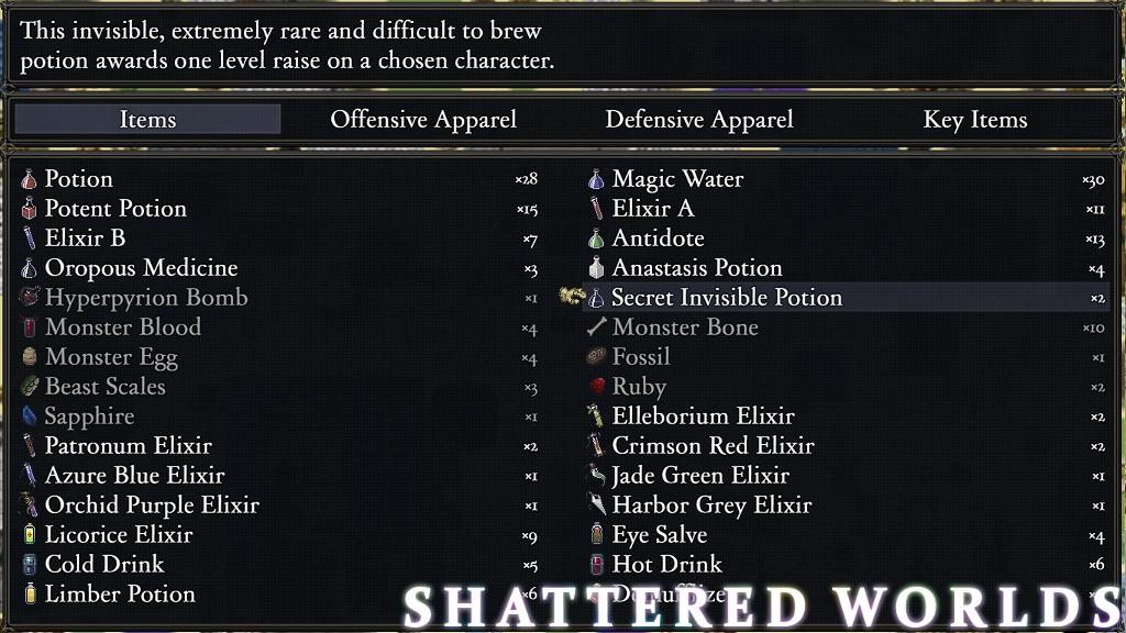 Shattered World RPG Items