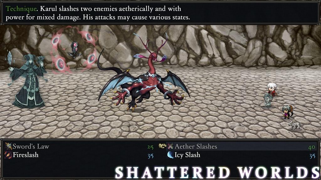 Shattered World RPG Battle